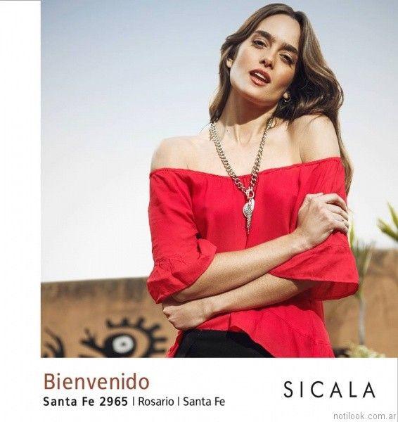 Verano De Moda Sin Argentina 2017Noticias Sicala Blusa Hombros KF3uTl1Jc