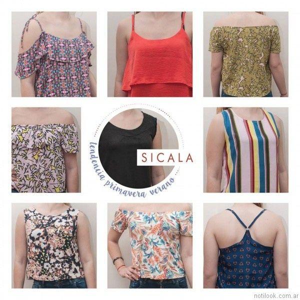 blusas estampadas sicala verano 2017