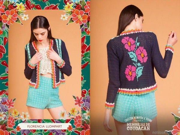 chaqueta a crochet florencia llompart verano 2017