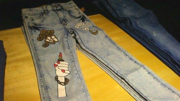 jeans con impresiones vov jeans verano 2017