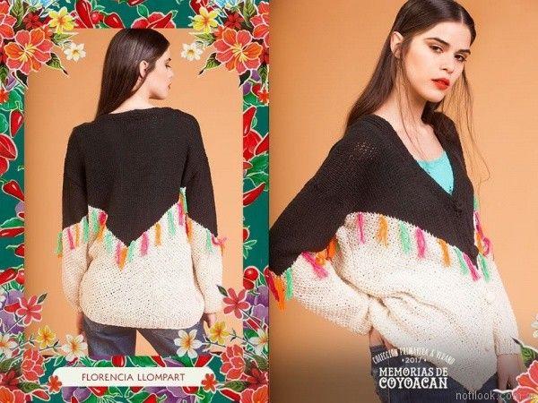 sweater con detalles florencia llompart verano 2017