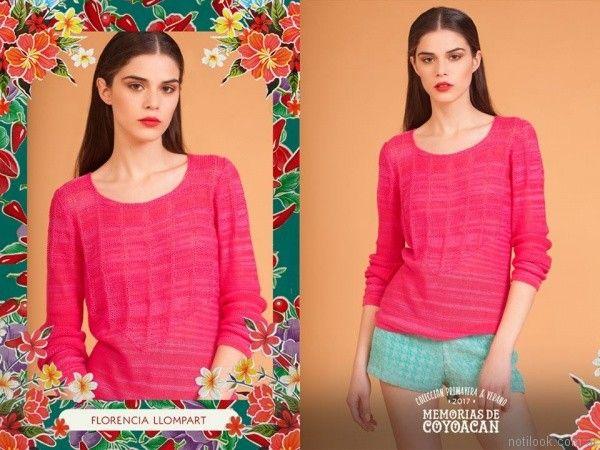 sweater fucsia florencia llompart verano 2017