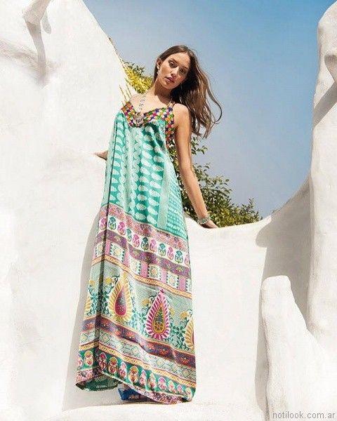 vestido con mix de estampas para el dia carola lev verano 2017