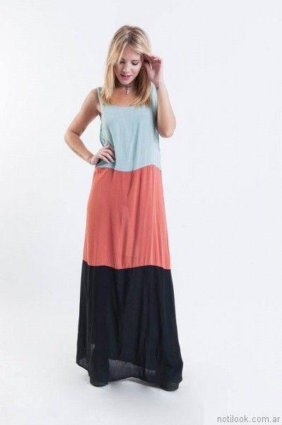 vestido largo para el dia desvio jean verano 2017