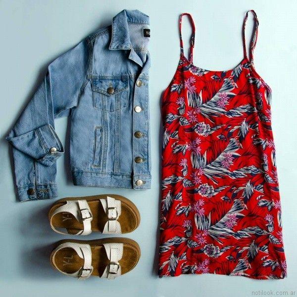 vestido para el dia estampado juvenil yosy lovers verano 2017