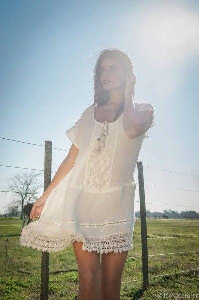 vestidos blancos para el dia desvio jean verano 2017 872f88466773