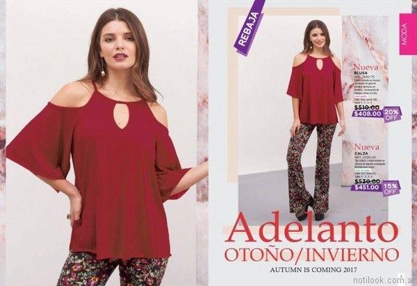 blusa sin hombros otoño invierno 2017   Juana Bonita