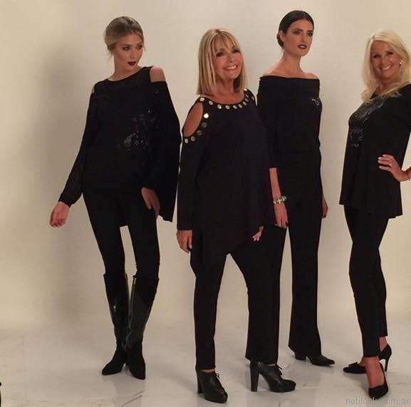 look en negro para señoras invierno 2017 Adriana Costantini