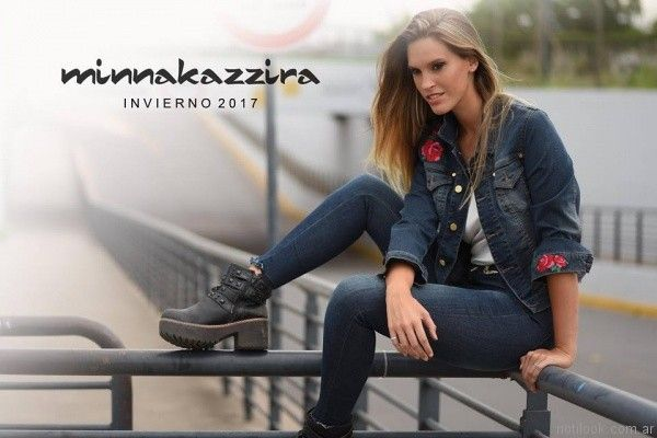 look total denim anticipo Minnakazzira Jeans invierno 2017