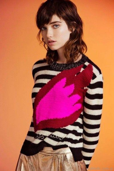 sweater a rayas Jazmin chebar otoño invierno 2017