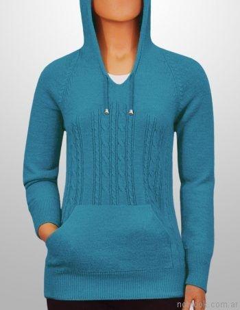 sweater canguro con detalles trensados mauro sergio sweaters invierno 2017