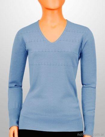 sweater de hilo con detalles calados mauro sergio sweaters invierno 2017