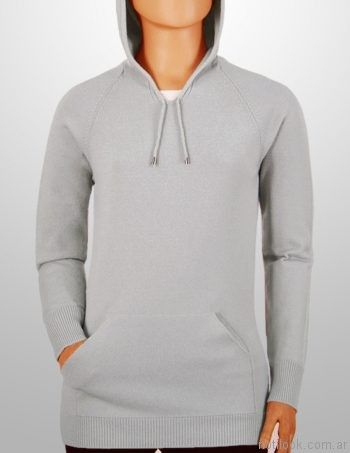 sweater tejido canguro con capucha mauro sergio sweaters invierno 2017