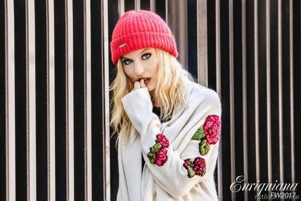 Saco bordado tejido Enriquiana invierno 2017