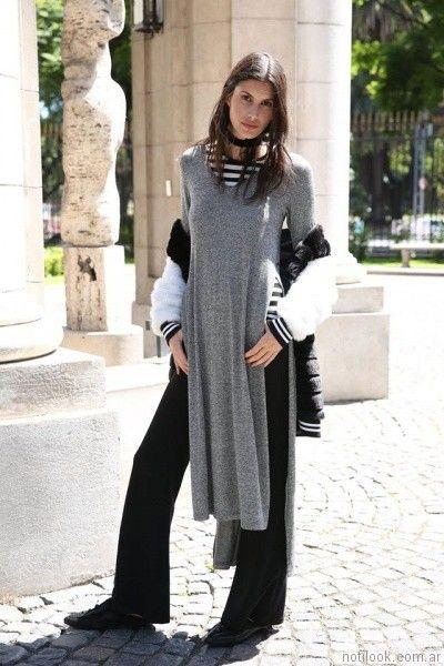 Sweater largo y palazo   Tucci otoño invierno 2017