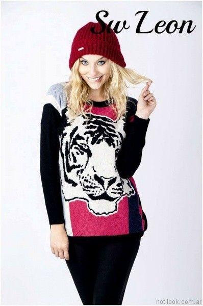 Sweater tejido Enriquiana invierno 2017