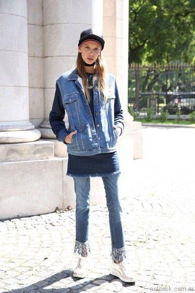 camepra de jeans   Tucci otoño invierno 2017