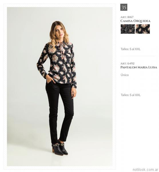 camisa estampada mujer otoño invierno 2017 Okoche