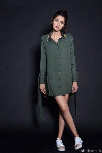 camisas largas mujer otoño invierno 2017 Pura pampa