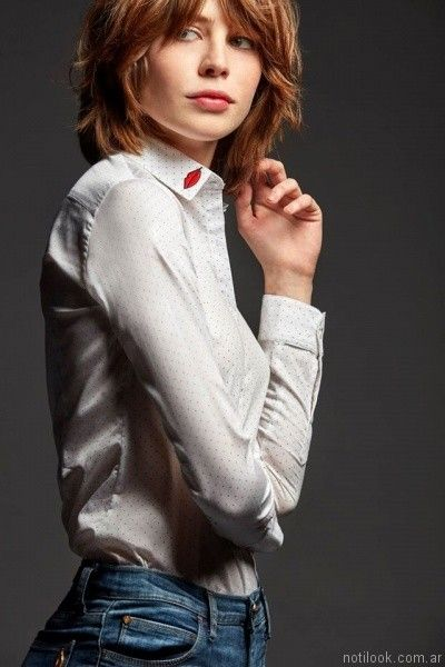 camisas para mujer con apliques las oreiro otoño invierno 2017