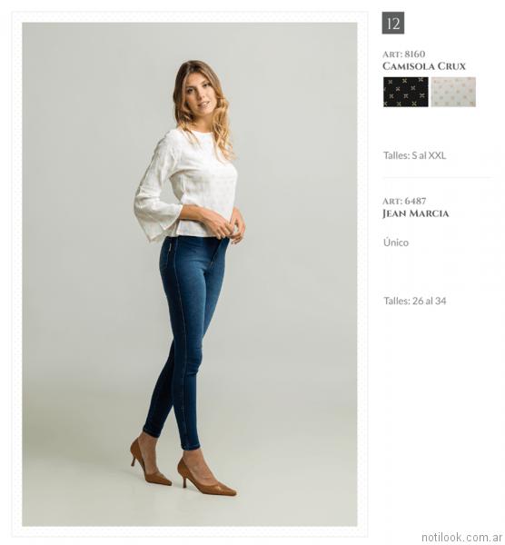 camisola mangas amplia y jeans chupin otoño invierno 2017 Okoche