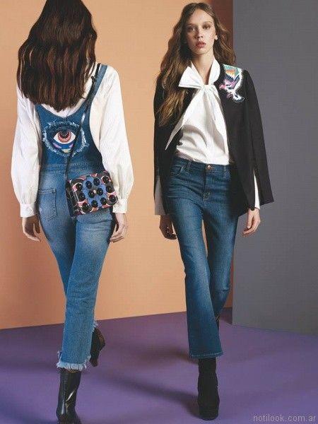 jeans capri oxford y rectos Maria Cher otoño invierno 2017