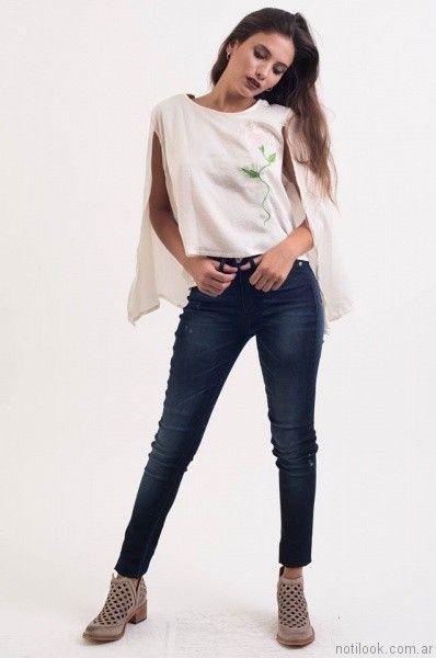 jeans chupin desvio jeans otoño invierno 2017
