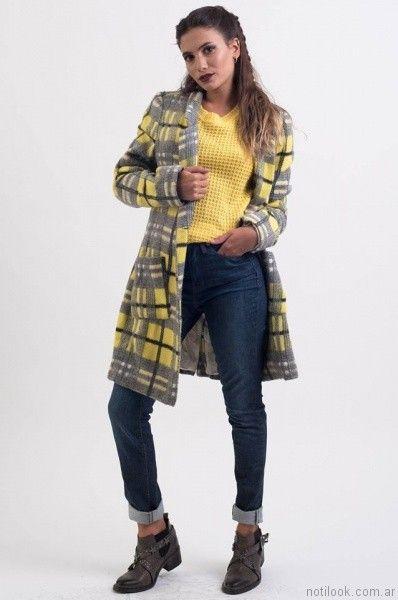 jeans con saco largo desvio jeans otoño invierno 2017