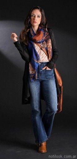 jeans tiro alto oxford Brandel otoño invierno 2017