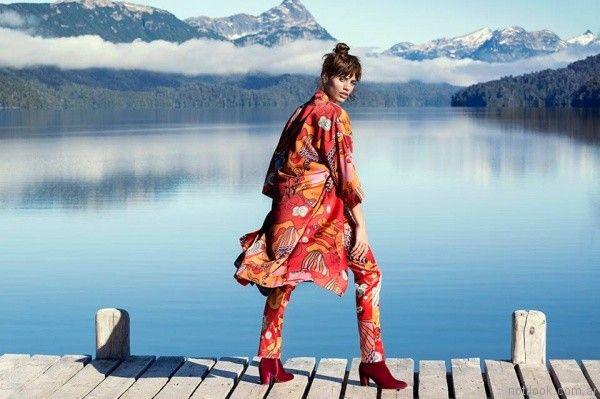 kimono estampado teresa calandra otoño invierno 2017