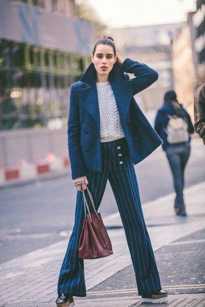 pantalon de vestir a rayas otoño invierno 2017 Desiderata