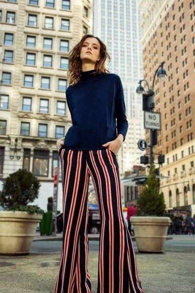 pantalon oxford rayado Silenzio otoño invierno 2017