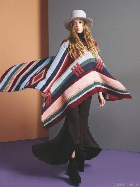 poncho tejidos Maria Cher otoño invierno 2017