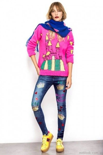 sweater coloridos Agustina Saquer otoño invierno 2017