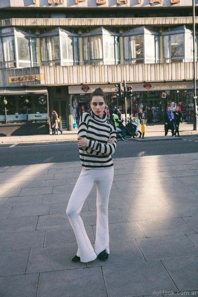 sweater polera a rayas otoño invierno 2017 Desiderata