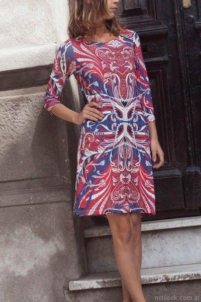 vestidos cortos para el diateresa calandra otoño invierno 2017