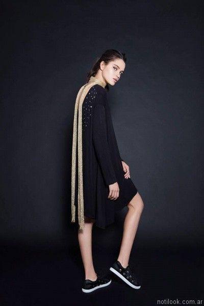 vestidos para el dia sporty chic otoño invierno 2017 Pura pampa