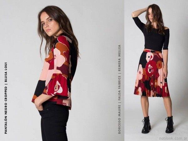 blusa estampada Chocolate otoño invierno 2017