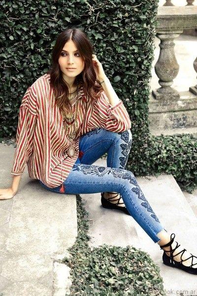 blusa rayada India Style otoño invierno 2017