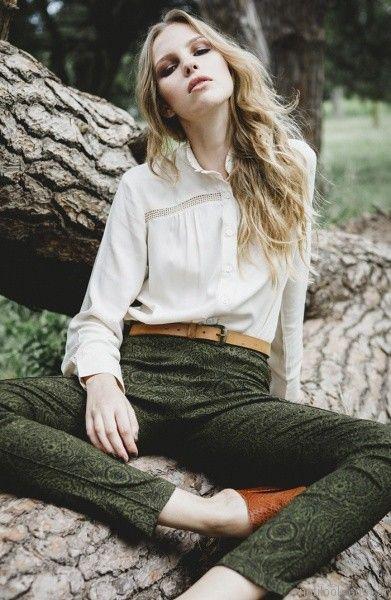 camisa color crudo mujer otoño invierno 2017 - Tibetano