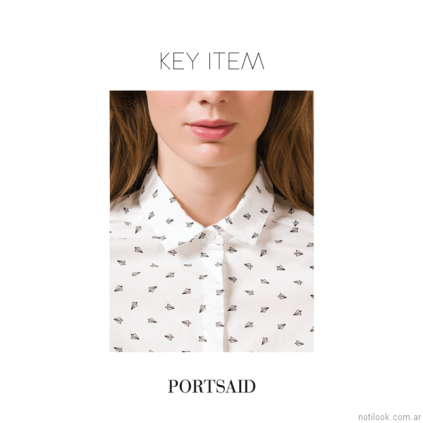 camisa estampada mujer Portsaid otoño invierno 2017