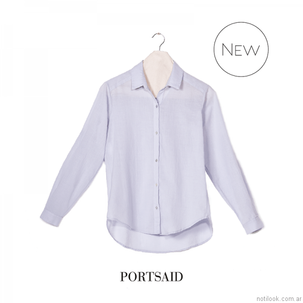 camisa voile mujer Portsaid otoño invierno 2017