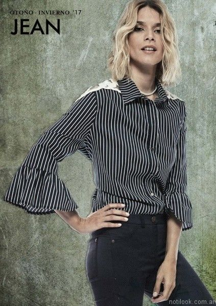 camisas a rayas mujer city Jenifer argentina otoño invierno 2017