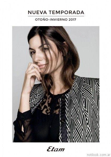 camisas con mangas de tul bordado etam otoño invierno 2017