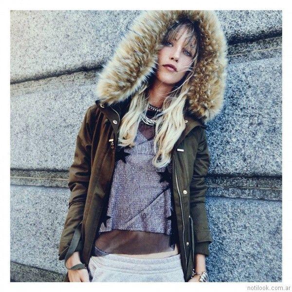 campera abrigo mujer Cuesta Blanca otoño invierno 2017  51818765428f