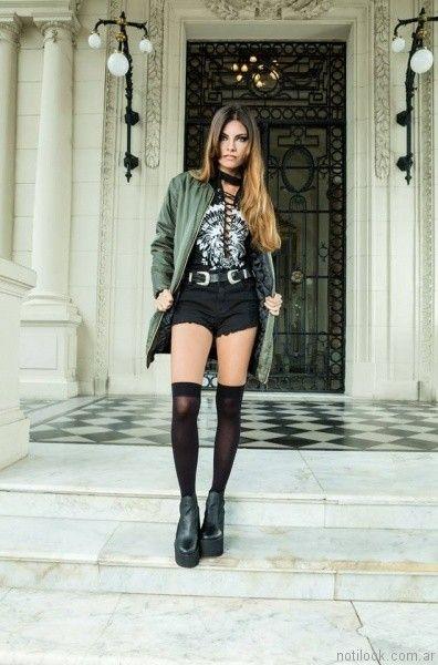 campera forrada con matelase mujer tabatha jeans otoño invierno 2017