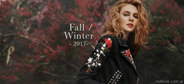 camperas con bordados Sweet otoño invierno 2017