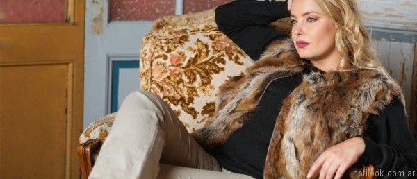 chaleco de piel sintetico invierno 2017 - PORTOFEM