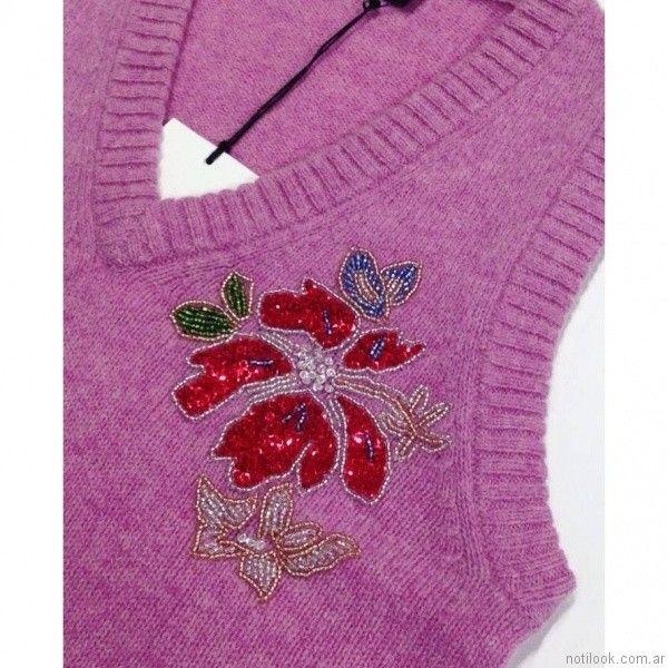 chaleco tejido con bordado akiabara otoño invierno 2017