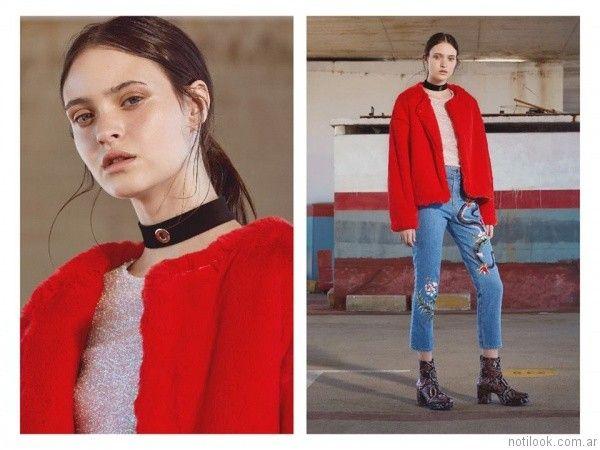 jeans bordados Complot otoño invierno 2017